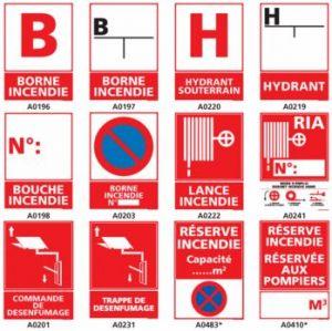 Signalisation sécurité et prévention incendie.