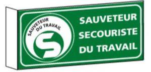Signalisation Drapeau Sauveteur Secouriste du Travail SST