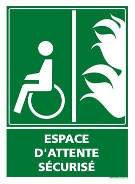 Panneau ESPACE D'ATTENTE SECURISE (B0347)