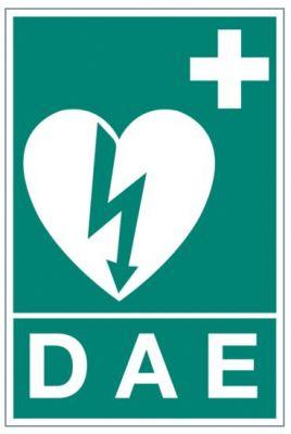 Panneau défibrillateur automatisé externe (B0352)