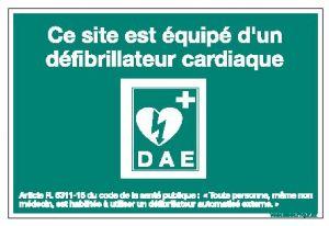 Panneau défibrillateur automatisé externe (B0355)