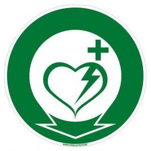 Panneau emplacement défibrillateur cardiaque (B0266)