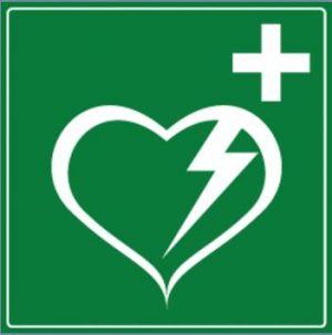 Panneau défibrillateur cardiaque automatisé externe