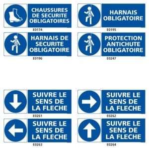Signalisation d'obligation en industrie