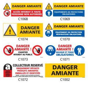 Signalisation produits dangereux Amiante