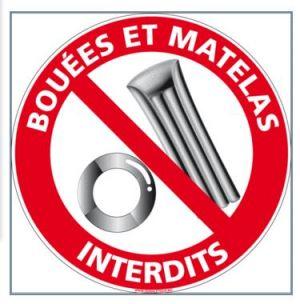 BOUÉES ET MATELAS INTERDITS (D0958)