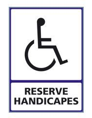 RESERVE HANDICAPES : 2 visuels disponibles