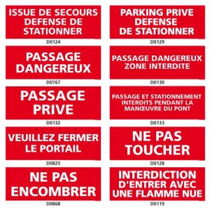 INTERDICTION (stationnement, passage…)