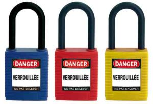Cadenas consignation non conducteur Rouge