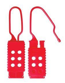 Crochet de consignation non-conducteur, 25 mm x 64 mm d'écartement de mâchoire