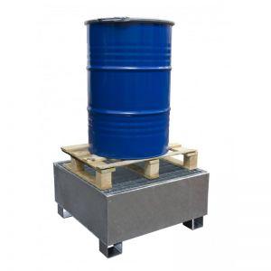 Bac de rétention acier galvanisé 1 fût (debout)