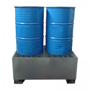 Bac de rétention acier galvanisé 2 fûts