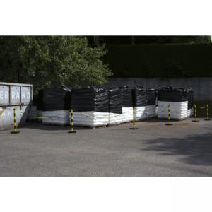Kit 6 poteaux PVC Jaune/Noir