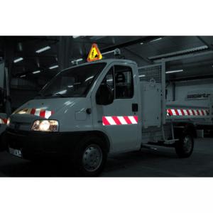 Kit balisage véhicule adhésif - 2 rouleaux (D et G) de 9m