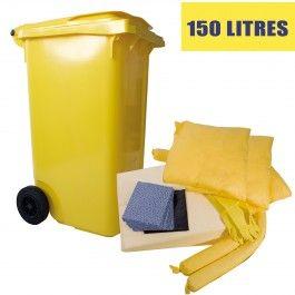 Kit anti pollution chimique 150 l