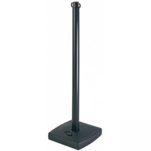 Poteau PVC Noir sur socle à lester 4kg
