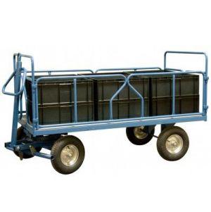 Remorque industrielle tractable 2000 x 1000 mm 1000 kg
