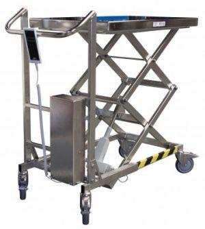 Table élèvatrice électrique triple ciseaux à vis sans fin INOX 100 kg