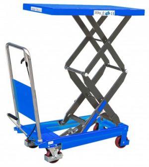 Table élévatrice manuelle double ciseaux 800 kg